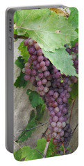 Purple Grapes On The Vine Portable Battery Charger by Jayne Wilson