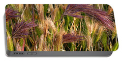 Purple Grasses Portable Battery Charger by Meghan at FireBonnet Art