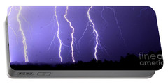 Purple Rain Lightning Portable Battery Charger