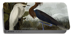 Purple Heron Portable Battery Charger by John James Audubon