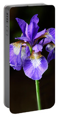 Purple Iris Portable Battery Charger by Adam Romanowicz