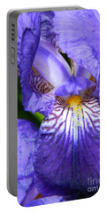 Purple Iris Portable Battery Charger by Chalet Roome-Rigdon