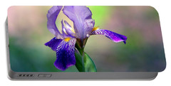 Purple Iris Portable Battery Charger by Deena Stoddard
