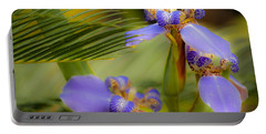 Purple Iris No. 1 Portable Battery Charger