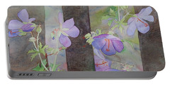 Purple Ivy Geranium Portable Battery Charger