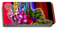 Purple Lady Flowers Portable Battery Charger
