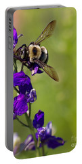 Purple Majesty Portable Battery Charger by Erika Weber