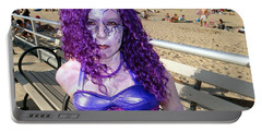 Portable Battery Charger featuring the photograph Purple Mermaid by Ed Weidman