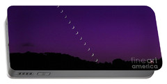 Purple Moon Setting In West Portable Battery Charger