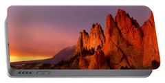 Purple Morning At Garden Of The Gods Portable Battery Charger