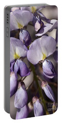 Portable Battery Charger featuring the photograph Purple Of Wisteria by Joy Watson