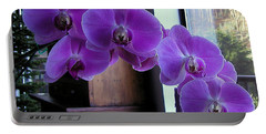 Purple Orchid Portable Battery Charger
