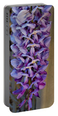 Purple Orchid Like Flower Portable Battery Charger