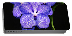 Purple Orchids - Flower Art By Sharon Cummings Portable Battery Charger by Sharon Cummings