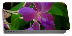 Portable Battery Charger featuring the photograph Purple Over Green by Greg Allore