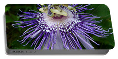 Purple Passionflower Portable Battery Charger
