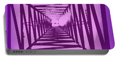 Portable Battery Charger featuring the photograph Purple Perspective by Clare Bevan