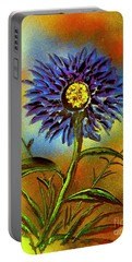 Purple Petals Portable Battery Charger by Greg Moores