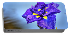 Purple Pond Iris Portable Battery Charger