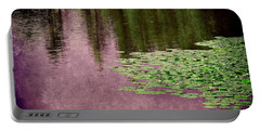Purple Pond Reflections Portable Battery Charger