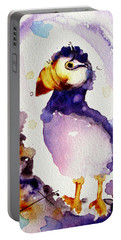 Purple Puffin Portable Battery Charger