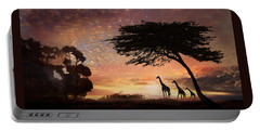Portable Battery Charger featuring the photograph Purple Safari Sunset by Melinda Hughes-Berland