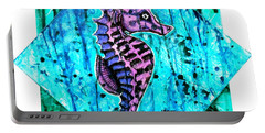 Purple Seahorse Portable Battery Charger
