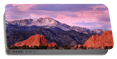 Purple Skies Over Pikes Peak Portable Battery Charger by Ronda Kimbrow