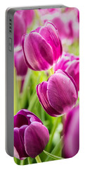 Purple Tulip Garden Portable Battery Charger