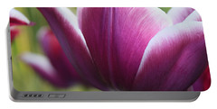 Purple Tulip Petal Portable Battery Charger