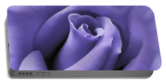 Purple Velvet Rose Flower Portable Battery Charger by Jennie Marie Schell