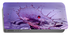 Purple Water Splash Portable Battery Charger
