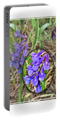 Purple Wildflowers Portable Battery Charger