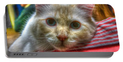 Portable Battery Charger featuring the photograph Purrfect Companion by Dennis Baswell