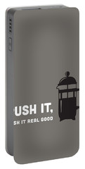 Portable Battery Charger featuring the digital art Push It by Nancy Ingersoll