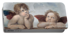 Putti Detail From The Sistine Madonna Portable Battery Charger
