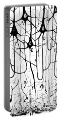 Pyramidal Cells Illustrated By Cajal Portable Battery Charger by Science Source