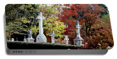 Portable Battery Charger featuring the photograph Quad Crosses In Fall by Lesa Fine