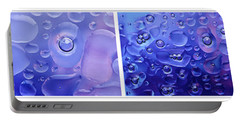 Portable Battery Charger featuring the photograph Quadryptich Of Colorful Water Bubbles by Peter v Quenter