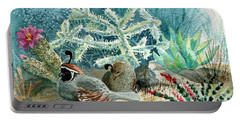 Quail At Rest Portable Battery Charger by Marilyn Smith