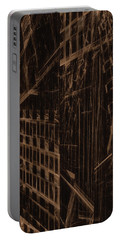 Portable Battery Charger featuring the digital art Quake - Ground Zero by GJ Blackman