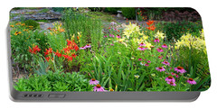 Portable Battery Charger featuring the photograph Quarter Circle Garden by Kathryn Meyer