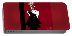 Queen Of Hearts Portable Battery Charger