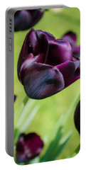 Queen Of The Night Black Tulips Portable Battery Charger