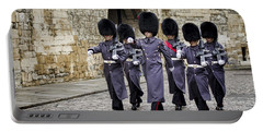 Queens Guard Portable Battery Charger by Heather Applegate