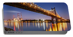 Portable Battery Charger featuring the photograph Queensboro Bridge by Mihai Andritoiu
