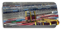 Portable Battery Charger featuring the photograph Queensgate Yard Cincinnati Ohio by Kathy Barney