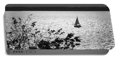 Quick Silver - Sailboat On Lake Barkley Portable Battery Charger by Jane Eleanor Nicholas
