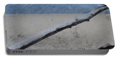 Quiet Beach Portable Battery Charger by Photographic Arts And Design Studio