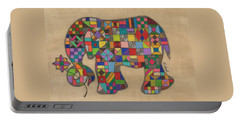 Quilted Elephant Portable Battery Charger